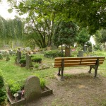 Herberts Bank auf dem Friedhof