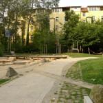 Der Wasserspielplatz.